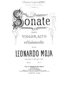 Соната для скрипки, альта и виолончели, Op.22: Партии by Леонардо Можа