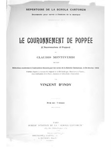 Коронация Поппеи, SV 308: Фрагменты, для голосов и фортепиано by Клаудио Монтеверди