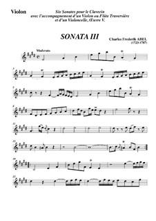 Трио-соната No.3, WK 119: Часть I – Партия скрипки by Карл Фридрих Абель