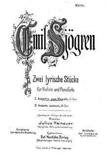 Две лирические пьесы для скрипки и фортепиано: No.1 Andantino quasi allegretto – сольная партия by Эмиль Шёгрен