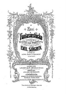 Две фантастические пьесы для скрипки и фортепиано, Op.27: Партитура by Эмиль Шёгрен