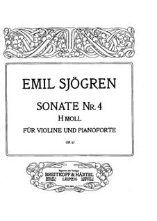 Соната для скрипки и фортепиано No.4, Op.47: Партитура by Эмиль Шёгрен