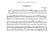 Ten Voluntaries for Organ (or Harpsichord), Op.7: Voluntary No.6 in F Major by Джон Стэнли