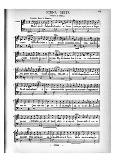 Arianna: Act I, scenes 6-12 – piano-vocal score by Бенедетто Марчелло