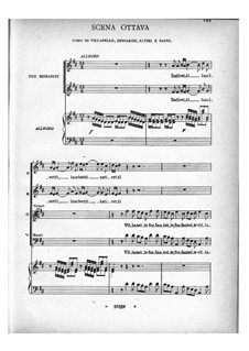 Arianna: Act II, scenes 8-10 – piano-vocal score by Бенедетто Марчелло