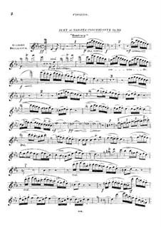Концертная соната для арфы (или фортепиано) и скрипки (или виолончели), Op.113: Партия скрипки by Луи Шпор