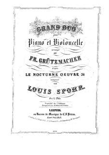 Ноктюрн до мажор, Op.34: Для виолончели и фортепиано – партия фортепиано by Луи Шпор