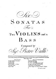 Шесть трио-сонат: Скрипка II by Pietro Valli