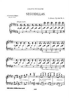 Испанские песни, Op.232: No.5 Сегидилья by Исаак Альбенис