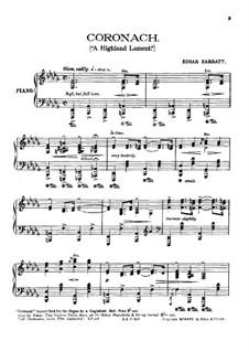 Coronach (A Highland Lament) for Piano: Coronach (A Highland Lament) for Piano by Edgar Barratt