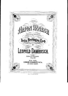Arion March: Arion March by Leopold Damrosch