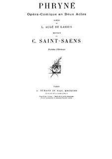 Фринея: Акт I by Камиль Сен-Санс