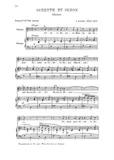 Сюзетта и Сюзон: Клавир с вокальной партией by Камиль Сен-Санс