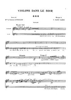 Violons dans le soir: Violons dans le soir by Камиль Сен-Санс