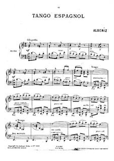 Два испанских танца, Op.164: No.2 Испанское танго by Исаак Альбенис