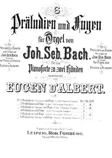 Фантазия и фуга No.7 до минор, BWV 537: Для фортепиано by Иоганн Себастьян Бах