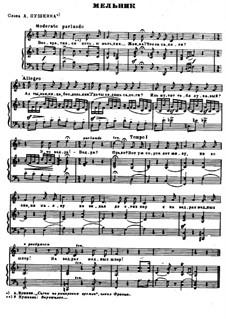 Песни и романсы (Том I), Nos.24-50: No.46 Мельник  by Александр Даргомыжский