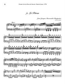 Пьесы для клавесина, Op.1: No.9 La Pitras by Jean-Jacques Beauvarlet-Charpentier