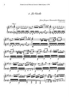 Пьесы для клавесина, Op.1: No.1 La Cécile by Jean-Jacques Beauvarlet-Charpentier