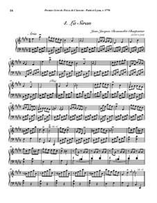 Пьесы для клавесина, Op.1: No.4 La Siran by Jean-Jacques Beauvarlet-Charpentier
