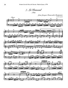 Пьесы для клавесина, Op.1: No.7 La Remond by Jean-Jacques Beauvarlet-Charpentier