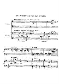 Six épigraphes antiques, L.131: No.4 Pour la danseuse aux crotales by Клод Дебюсси