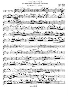 Октет ми мажор, Op.32: Партия кларнета by Луи Шпор