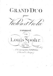 Большой дуэт для скрипки и альта, Op.13: Партии by Луи Шпор