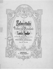 Шесть салонных пьес для скрипки и фортепиано, Op.145: Сольная партия by Луи Шпор