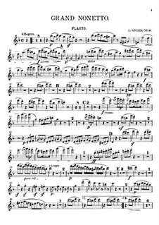 Большой нонет, Op.31: Партия флейты by Луи Шпор
