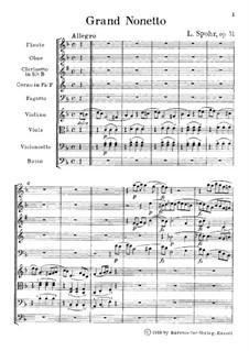 Большой нонет, Op.31: Партитура by Луи Шпор