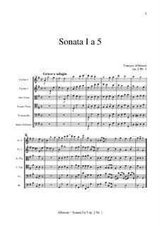 Шесть сонат для струнных и бассо континуо, Op.2: Соната No.1 by Томазо Альбинони