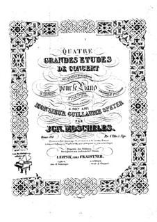 Четыре концертных этюда для фортепиано, Op.111: Четыре концертных этюда для фортепиано by Игнац Мошелес