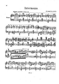 Четыре пьесы для фортепиано, Op.10: No.3 Интермеццо by Eugen Fedorovich Alenev