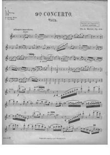 Концерт для скрипки с оркестром No.9, Op.104: Сольная партия by Шарль Берио