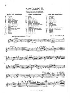 Концерт для скрипки с оркестром No.2, Op.32: Сольная партия by Шарль Берио