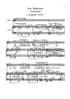 Пять поэм Бодлера, L.64: No.1 Le balcon by Клод Дебюсси