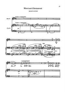 Пять поэм Бодлера, L.64: No.4 Recueillement by Клод Дебюсси