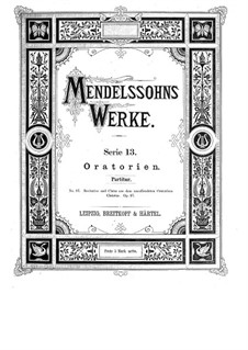 Христос, Op.97: Партитура by Феликс Мендельсон-Бартольди