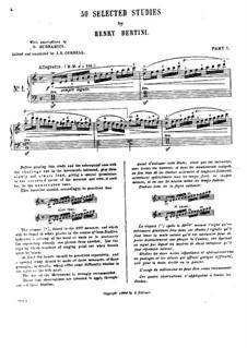 Пятьдесят избранных этюдов: Этюды No.1-12 by Анри Жером Бертини
