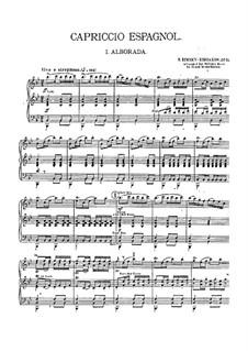 Испанское каприччио, Op.34: Для военного оркестра – партии by Николай Римский-Корсаков
