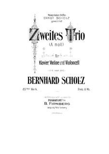 Фортепианное трио No.2 ля минор, Op.83: Партитура, Партии by Бернард Шольц