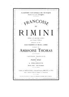 Франческа да Римини: Франческа да Римини by Амбруаз Томас