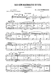 Ego sum resurrectio et vita. Paraphrase for Organ and Orchestra, Op.34: Партия гобоев by Фердинанд де Ла Томбелль