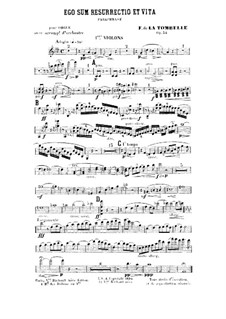 Ego sum resurrectio et vita. Paraphrase for Organ and Orchestra, Op.34: Партия I скрипок by Фердинанд де Ла Томбелль