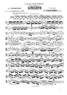 Концерт для виолончели с оркестром No.1, Op.46: Сольная партия by Анри Вьетан