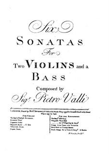 Шесть трио-сонат: Скрипка I by Pietro Valli