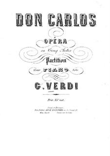 Дон Карлос: Для фортепиано by Джузеппе Верди