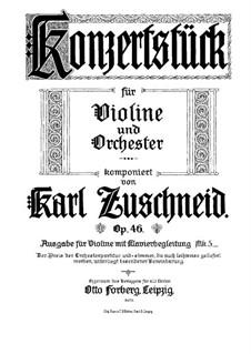 Концертная пьеса, Op.46: Для скрипки и фортепиано by Карл Цушнайд