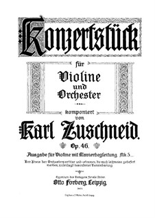 Концертная пьеса, Op.46: Сольная партия by Карл Цушнайд